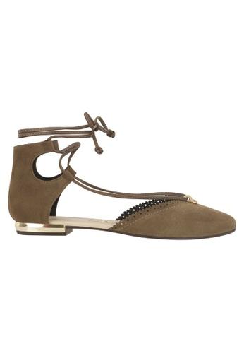 Beira Rio grey Ankle Caged Classy Tie Up Flats MO996SH14EUZHK_1