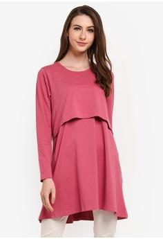 65608e2fc8702 Aqeela Muslimah Wear pink Basic Nursing Top 4FAEDAA63FC921GS_1