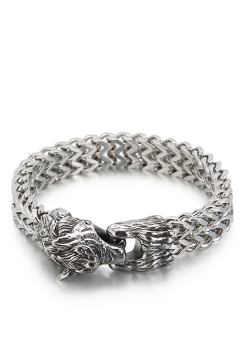 HAPPY FRIDAYS Wolf Head Double Layer Titanium Steel Bracelet KL148348 8A0EDACC563DDEGS_1