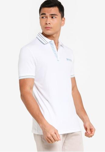 BOSS 白色 Paule Pro 1 Polo Shirt - BOSS Men 0AEB1AA2CC7240GS_1