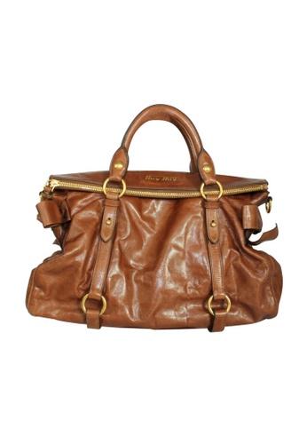 MIU MIU brown Pre-Loved miu miu Miu  Miu Brown Vitello Lux  Mini Bow Bag 97068ACD68AC6EGS_1