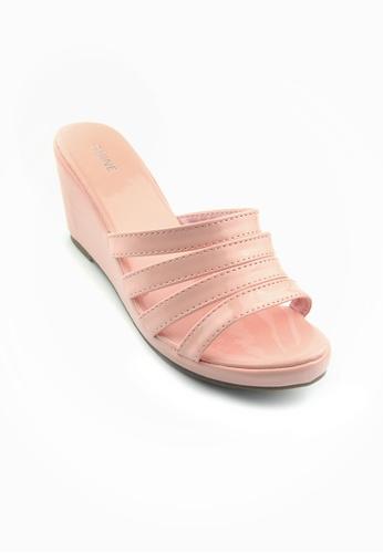 SHINE pink Slip On Wedges SH554SH63MUASG_1