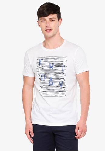 ESPRIT 白色 短袖T恤 9659CAACAE4110GS_1