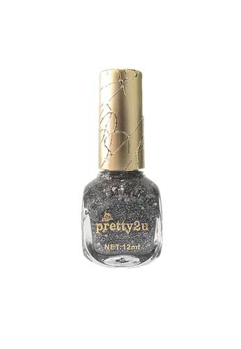 Pretty2u silver Candy Nail Polish-41 PR716BE34QMFMY_1