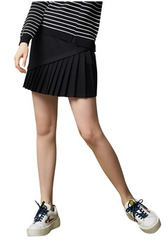 OUWEY歐薇 率性都會簡約褲裙