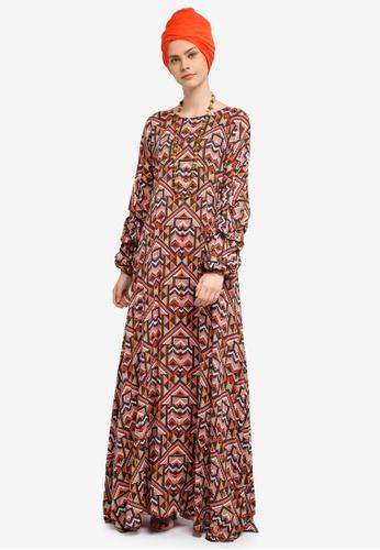 Yans Creation multi Pixel Long Dress YA587AA0SKIHMY_1