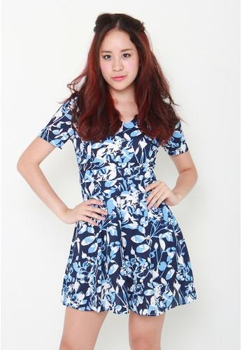Leline Style blue Kara Floral Dress LE802AA88ITRSG_1