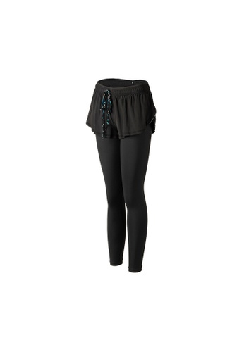 VIVIESTA SPORT black Basic Drawstring 2-in-1 leggings 5A99DAA749A645GS_1