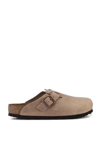 Birkenstock brown Boston Oiled Leather Sandals 47537SH65B3150GS_1