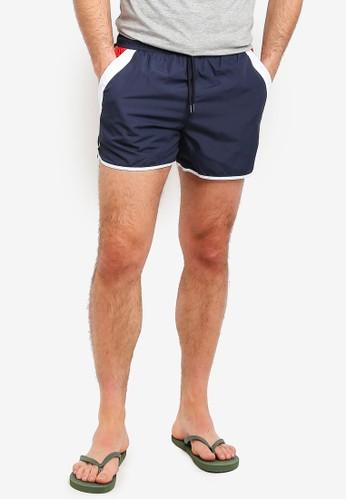 Brave Soul navy Runner Style Swim Shorts 30E37AA02D016BGS_1