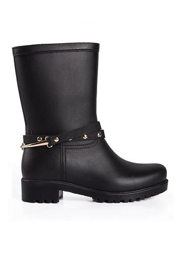 Twenty Eight Shoes black Two Ways of Wearing Rain Boots VR707 D55BCSH75803B3GS_1