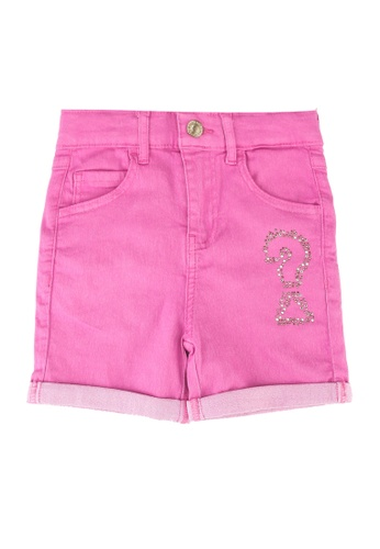 Guess pink Bull Denim Shorts CC9E8KAC64D712GS_1