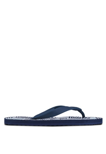 24:01 green and navy Geo All Over Flip Flop 24841SH23AVGPH_1