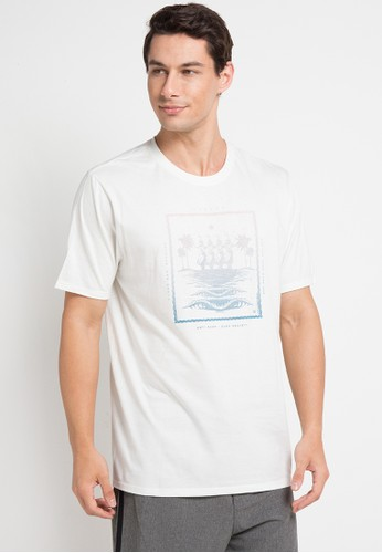 hurley white Beach Punk T-Shirt 661A6AA5F0D273GS_1