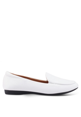 Louis Cuppers 白色 Faux Leather Loafers 14B0FSH7CF10F8GS_1