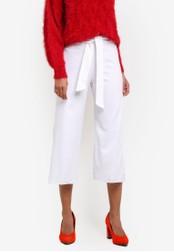 Miss Selfridge white White Crop Wide Leg Trousers MI665AA0SAC3MY_1