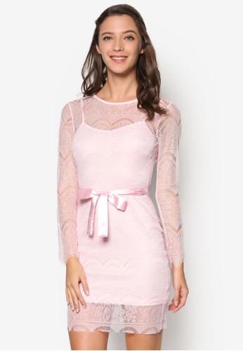 蕾絲花邊蝴蝶esprit 衣服結伴娘禮服, 服飾, 短洋裝