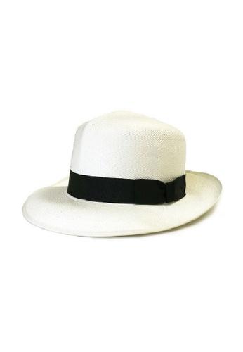 9398e5ac9 Foldable Panama Hat White With Black Ribbon