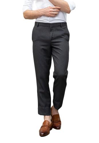House of Cuff grey Houseofcuff Celana Ankle / Cropped Pants Slim fit Celana kerja bahan / Sirwal Abu tua 1B505AA9C101C4GS_1