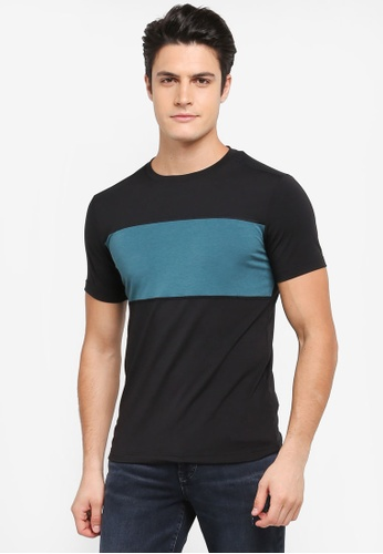 Calvin Klein black Bold Block Short Sleeve T-Shirt - Calvin Klein Performance C560DAA97780F1GS_1