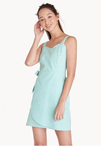 Pomelo green Mini Side Bow Straight Fit Dress - Green 3F224AAD6ECD14GS_1
