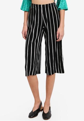 Miss Selfridge black Petite Plisse Trousers MI665AA0STCXMY_1