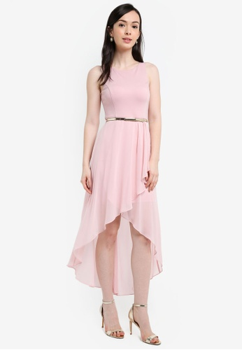 Forever New pink Danielle Hi-Lo Dress 78525AAC3F0982GS_1