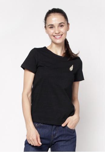 Eighteen Plus black Round Neckline T-Shirt 32A13AADBC4FE7GS_1