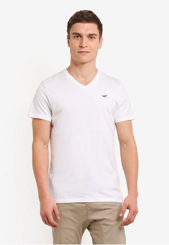 Hollister white Pop Icon V Neck T-Shirt HO422AA0SBP0MY_1
