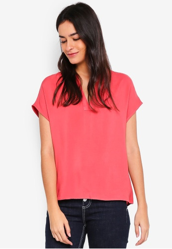Vero Moda red Lou Short Sleeve Top 5BB90AA882C543GS_1