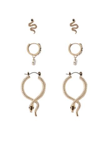 ALDO gold Sylithh Pierced Earrings 5A27BAC73394B0GS_1