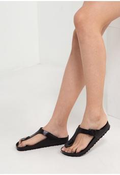 ae25dfecc516 Birkenstock black Gizeh EVA Sandals BI090SH01JPEMY 1