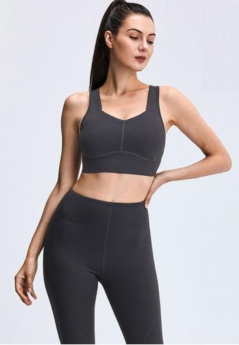 Trendyshop grey Quick-Drying Yoga Fitness Sports Bras B7224US48CD67EGS_1