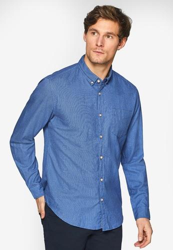 ESPRIT 藍色 長袖襯衫 687D3AA4E4CE87GS_1