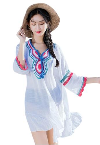 LYCKA 白色 BC1081海灘度假外罩衫 白色 275E3USC7F9E21GS_1