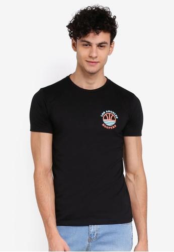 Penshoppe 黑色 短袖印花T恤 45235AA8BEBDCFGS_1