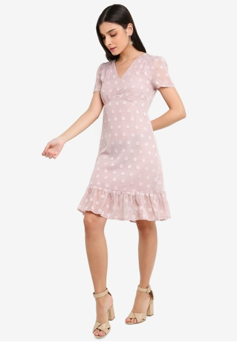 FORCAST pink Kairi Ruffle Dress 695B5AA9FEBDA1GS_1