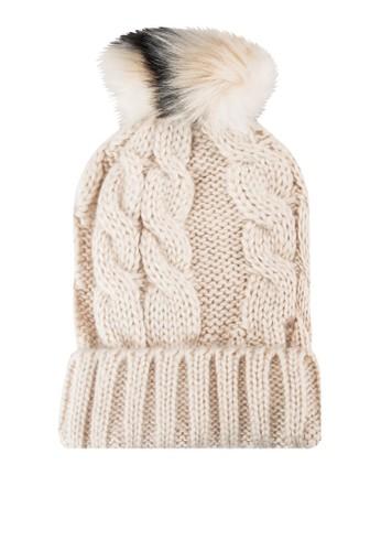 撞色小毛球針織毛帽, esprit 香港飾品配件, 飾品配件