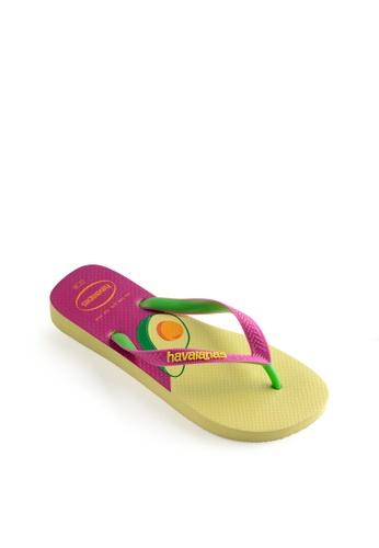Havaianas yellow Top Cool Flip Flops EDDB1SH07D33F5GS_1