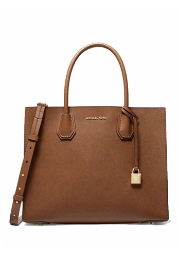 Michael Kors brown MICHAEL Michael Kors Mercer Large Saffiano Leather Tote Bag 0EEE4ACA05B7FDGS_1