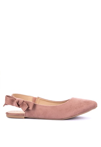 Sofab! pink Tippy Sling-back Flats 249FESH7F95E75GS_1