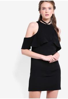 【ZALORA】 Love 瓦加短袖層疊洋裝