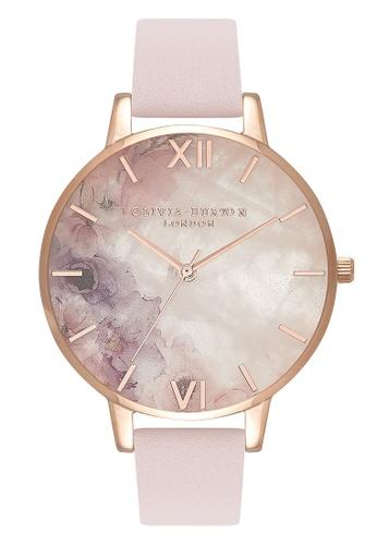 Olivia Burton gold SEMI PRECIOUS Rose-Quartz 38 mm Women s Watch  73BD0ACE9B701DGS 1 89bf0088e9