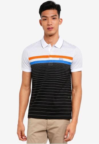BOSS black and multi Paddy 3 Polo Shirt - Boss Athleisure 9B363AAA513062GS_1
