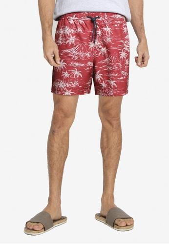 Springfield red Printed Swim Shorts 08294US04E333DGS_1