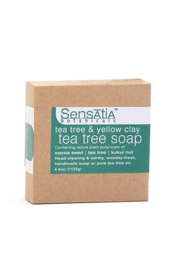 Sensatia Botanicals n/a Sensatia Botanicals Tea Tree & Yellow Clay Tea Tree Soap - 125 gr 045E6BE04D2B8EGS_1