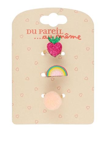 Du Pareil Au Même (DPAM) gold 3-Pack Colorful Rings 87DEAKC06B4CD5GS_1
