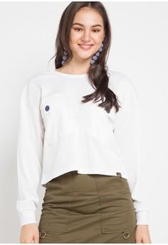 4ecc10eef3205f Gaff white Sweater Atasan Top Cardigan Long Shirt Pocket AE387AA65A89B9GS_1