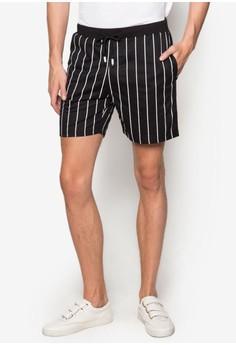 【ZALORA】 6 Jax 條紋抽繩短褲