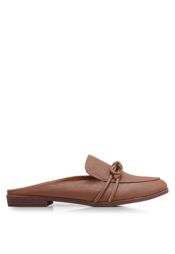 Nose brown Bow Mules Slide Ons BE434SH1F3902EGS_1